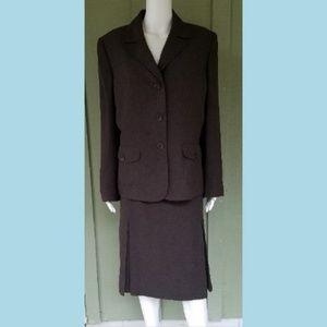 KASPER Brown Career Skirt Suit 16